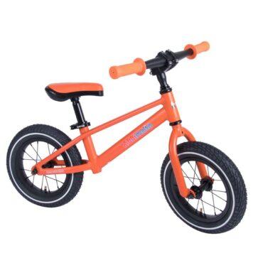 bicicleta sin pedales naranja